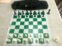 Professional Chess Set with Deluxe Carry Bag - New