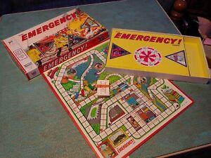 Vtg Board Game Milton Bradley Emergency Tv Show Fireman E.r. 4406 70s Complete