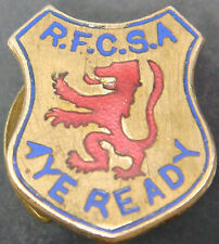 Rangers Fc partidarios Asociación rara Badge Maker Dowler b'ham 3586 Botón Agujero
