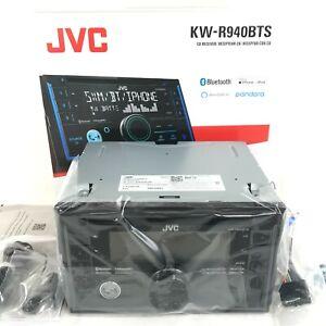 JVC KW-R940BTS iPhone Alexa Bluetooth CD Player USB Aux AM FM Pandora Radio 2Din