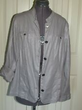Additions by Chico's linen blend gray jacket with silver flecks - sz 2 (LG)