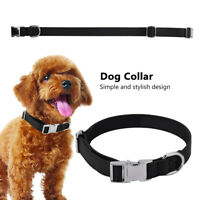 Adjustable PU Leather Metal Buckle Pet Dog Collar Neck Strap Pets Comfort Soft