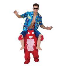 Adults Carry Me Lobster Costume Sebastian Sea Creature Seafood Fancy Dress