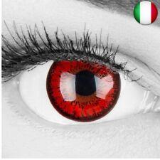 Meralens Lenti a Contatto Colorate Lupo Rossa rosse Red Flower Lenses - con