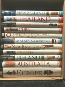 (11) DK EYEWITNESS TRAVEL GUIDES: EUROPE, ASIA, CUBA, CRUISE, NEW ZEALAND, ETC..
