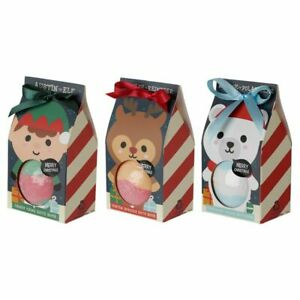 Christmas  Cutiemals Bath Bomb in Gift Packaging, Gift Present Stocking Filler