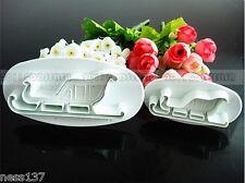 2 Moules Gateaux Forme Luge Emportes Pieces Cake design Pate à Sucre & d'Amande