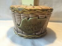 """Vintage Cottage Cheese Bowl w/Lid Japan 3"""" x 4.5"""" Cheese Wedge on Lid Adorable"""
