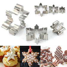 3pcs Xmas Snowflake Biscuit Cookies Cake Fondant Cutter Mold Decorating DIY Tool