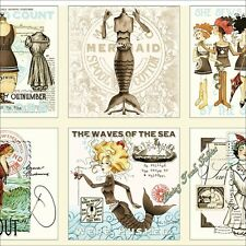 "6 BLOCKS ""SHE SEWS SEA SHELLS"" 25799-E NAUTICAL BIBLE FABRIC PANEL 23.5""X44"""