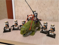 7 Pcs Star Wars Army Clone Trooper Characters Monster Weapons Lego MOC