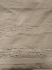 "15"" Drop White Shabby Chic Embroidered Bed Skirt"