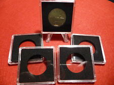QUADRUM : SQUARE COIN CAPSULE SYSTEM  27mm  (pkg of 5)  LOONIES (#1)