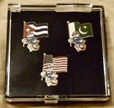 Set of 3 Izzy Olympic Pin Badge~1996 Atlanta~Flags:Cuba, Pakistan, United States