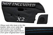 BLUE STITCH FITS MAZDA MX5 MK1 MIATA EUNOS 89-1997 2X DOOR CARD LEATHER COVERS