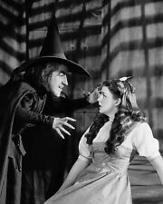 WIZARD OF OZ, DOROTHY AND THE WITCH a classic black and white 8 x 10!
