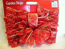 SET OF 12 BOWS & TREE TOPPER BOW DECORATION CHRISTMAS WREATH VALENTINE'S DAY