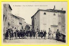 cpa RARE 11 - COURSAN (Aude) Place des MAILHEULS Quartier ALSACE LORRAINE Animé