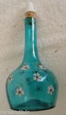 Hand blown barber bottle with enamel - ceramic stopper