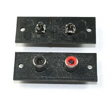 RCA 1 x Red/Black Jack Connector Panel - Lot of 5  ( 28J072 )