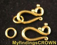 50 Sets Antiqued gold Hook & RING toggle clasps FC1277G