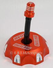 2003 2004 2005 KTM 525 525EXC 525MXC 525SX *ORANGE BILLET ALUMINUM GAS FUEL CAP*