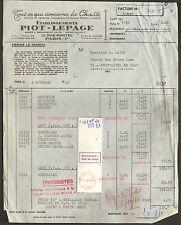 PARIS RUE MARTEL FACTURE ETS PIOT LEPAGE CHASSE 1966