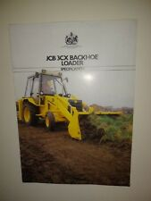JCB 3CX BACKHOE LOADER SPECIFCATION SALES BROCHURE YEAR 1985