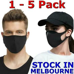 Protective Black Face Mask Mouth Washable Unisex Fashion Reusable Cover