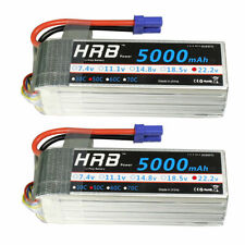 2x HRB 5000mAh 6S Lipo Battery 22.2V 50C 100C for RC Drone Airplane FPV Truck CA