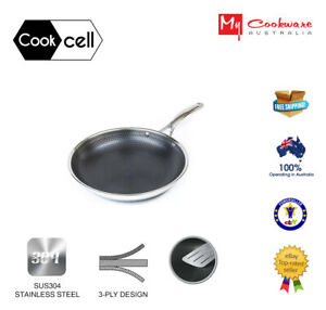 Cookcell Hybrid Stainless Steel Non-stick Frypan 20/24/26/28/32cm