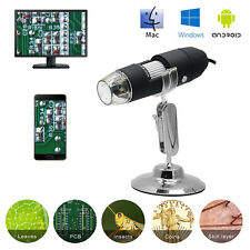 3 in 1 8LED 1000X Digital 2MP HD 1080P Microscope Magnifier Video Camera+Stand