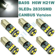 6x Canbus 9-SMD 64132 H6W 3893 T4W H21W LED Parking City Light White Error Free