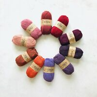 10x50g 100% Superfine Peruvian Alpaca 4ply yarn knitting crochet gift set SUNSET