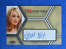 2008 TRI STAR IMPACT TNA ~~ VELVET SKY ~~ AUTOGRAPH CARD #A-VS