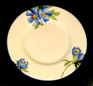 Stunning Art Deco, Rare Royal Doulton Rosea Blue Bread Plate