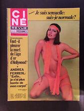 CINE REVUE 1976 N°15 andrea ferreol liz taylor thomas mitchell mirella d'angelo