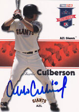 CHARLIE CULBERSON AZL SAN FRANCISCO GIANTS SIGNED CARD ATLANTA BRAVES DODGERS