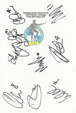 2 A4 CARTE BIANCO con il Bristol ROVER BADGE. firmata da 19 giocatori su 30.10.15