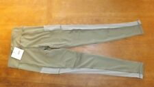 £18 New Missguided Ladies Khaki Active Mesh Pocket Leggings Size 10
