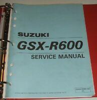 1997 thru 2000 SUZUKI GSXR600 GSXR 600 GSX R600 Service Manual & Parts Guide