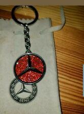 Mercedes-Benz Keychain Saint Tropez B66959999 Stainless Steel Swarovski Red