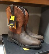 Ariat Men's US 13D Steel Toe Groundbreaker Western Boot Brown/Ember 10015191
