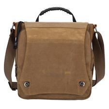 Men Vintage Canvas Shoulder Bag Satchel School Messenger Bag Crossbody Handbag