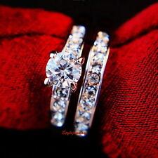 Crystal Engagement & Band Ring Sets