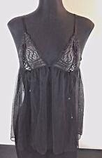 0ec46a40f03 Victorias Secret Size Medium Sheer Black Nude Lace Camisole BabyDoll Dress