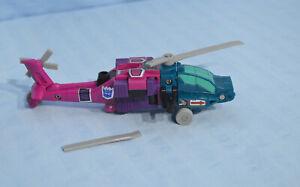 Transformers G1 SPINISTER w/ SINGE & HAIRSPLITTER Decepticon Targetmaster BROKEN