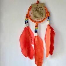 NEW BRIGHT ORANGE DREAM CATCHER NATIVE AMERICAN WALL HANGING MOBILE