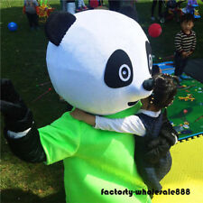 Chinese Panda Bear Mascot Costume Dress Adult Outfit party clothing Halloween