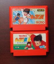 Famicom FC Captain Tsubasa I II 1 2 Japan NES Game US Seller